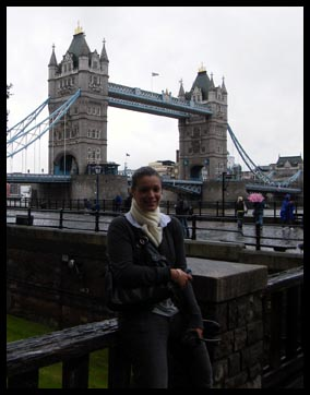 Me in front of the Tower Bridge in London