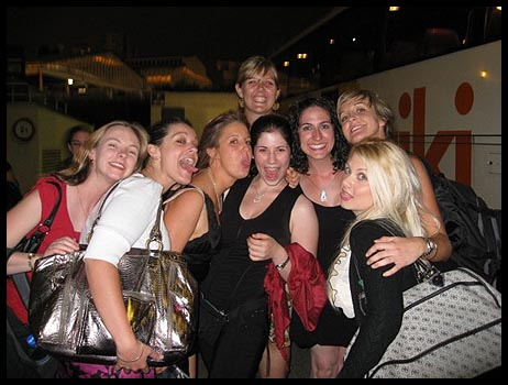 Sharon, Me, Jade, Liz, Amy, Jac, Jess & Mel after the Nouvelle Eve... No recollection of this photo being taken!