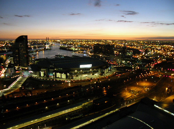View from the 36th floor looking towards Etihad Stadium, Melbourne