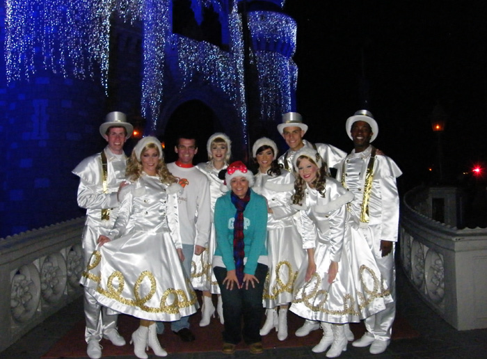 Back stage near Cinderella's Castle with the stage dance crew!
