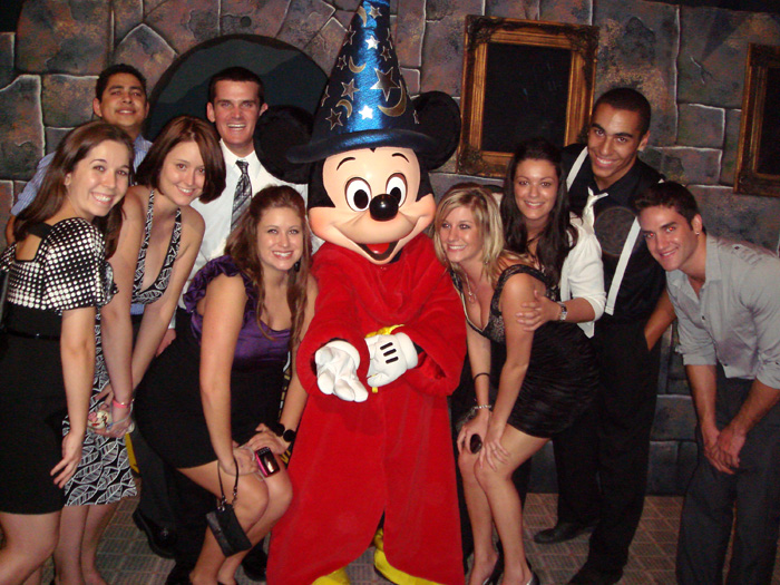 The crew at the Disney Winter Formal 2009