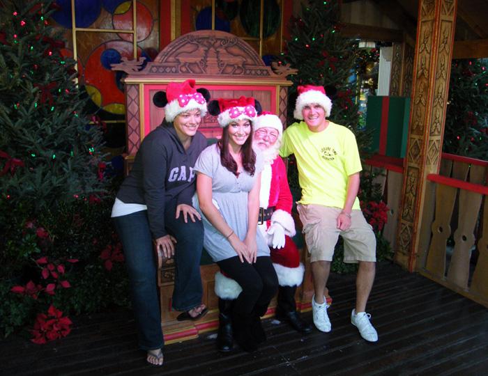 Meeting Santa at Downtown Disney - 2009