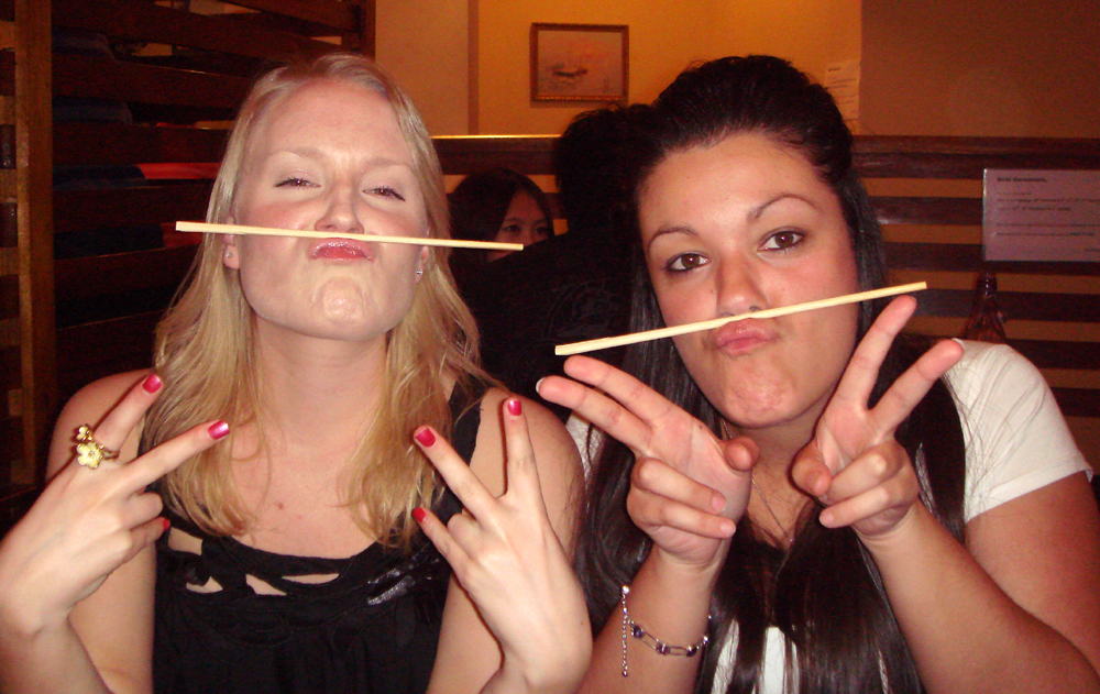 Playing with out chopsticks!