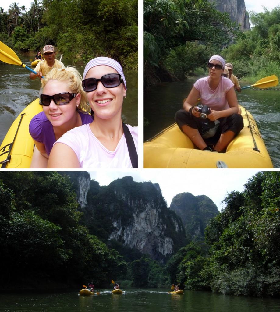 Canoeing down Sok River - Khao Sok, Thailand