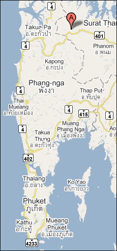 Map of Thailand - Khao Sok National Park