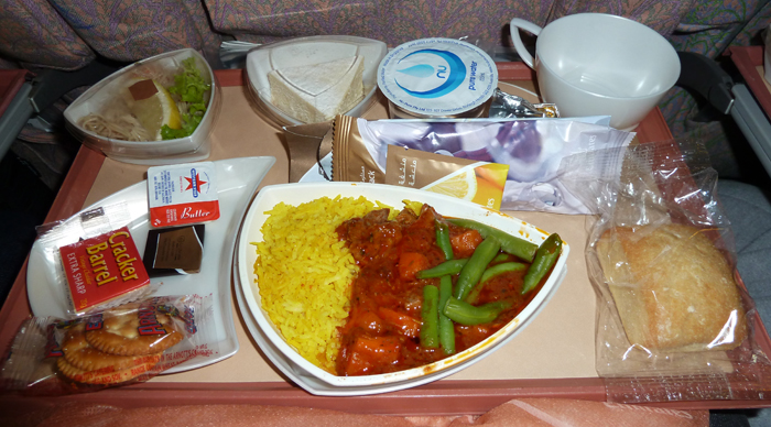 Emirates on board meal - Dinner