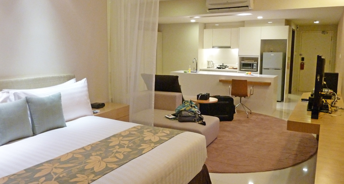 ParkRoyal Serviced Suited, KL - View from my bed