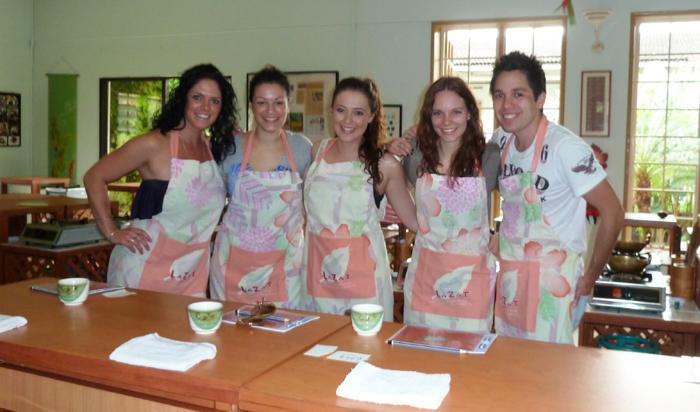 The crew at LaZat Cooking Class, Malaysia