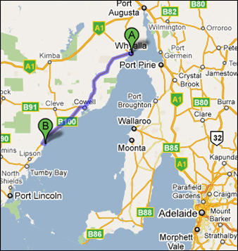Whyalla to Port Neill, SA