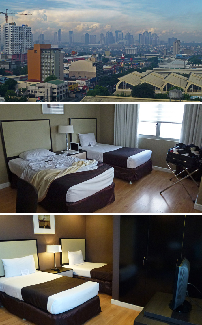 View from main bedroom window, bedroom 1 and bedroom 2 - Astoria Plaza, Philippines