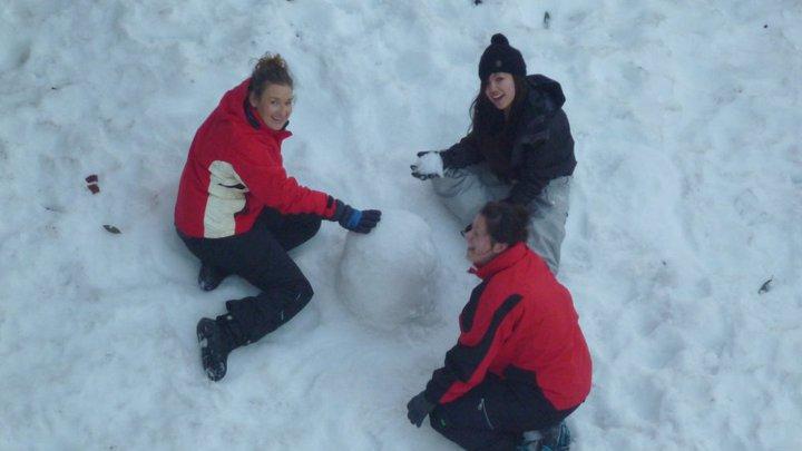 Snowman building at Mt Hotham