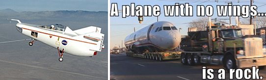 plane with no wings