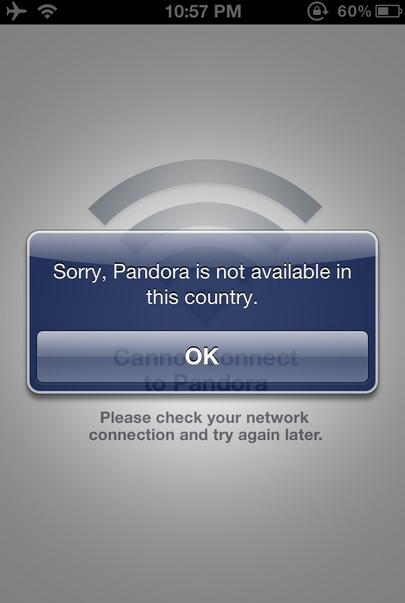 Canada hates Pandora