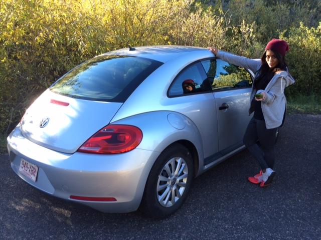 Bertha, our VW Rental Car