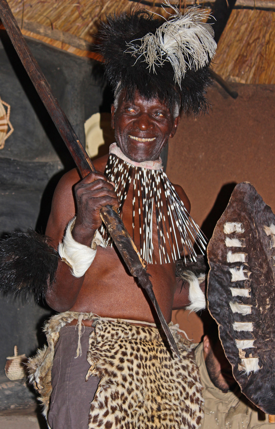 African Village Chief in Zimbabwe