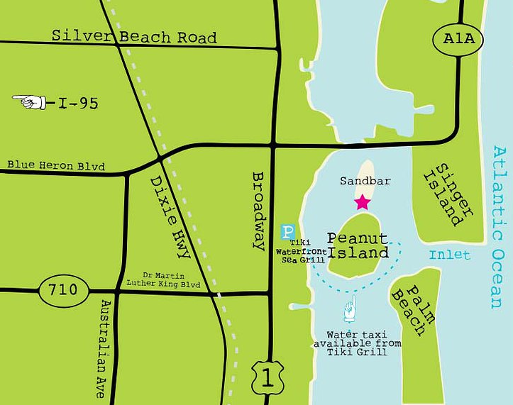 Peanut Island Map