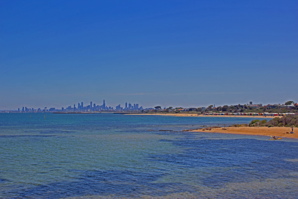 Melbourne Skyline from Brighton Beach