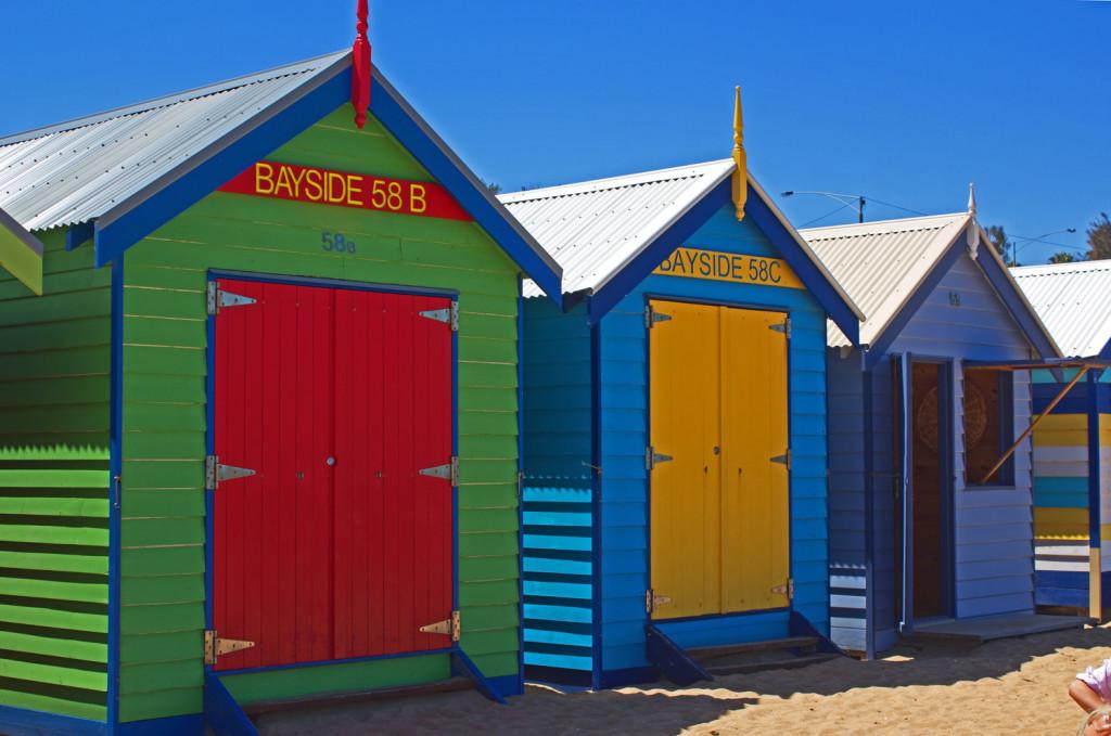 Brighton Bathing Boxes, Melbourne