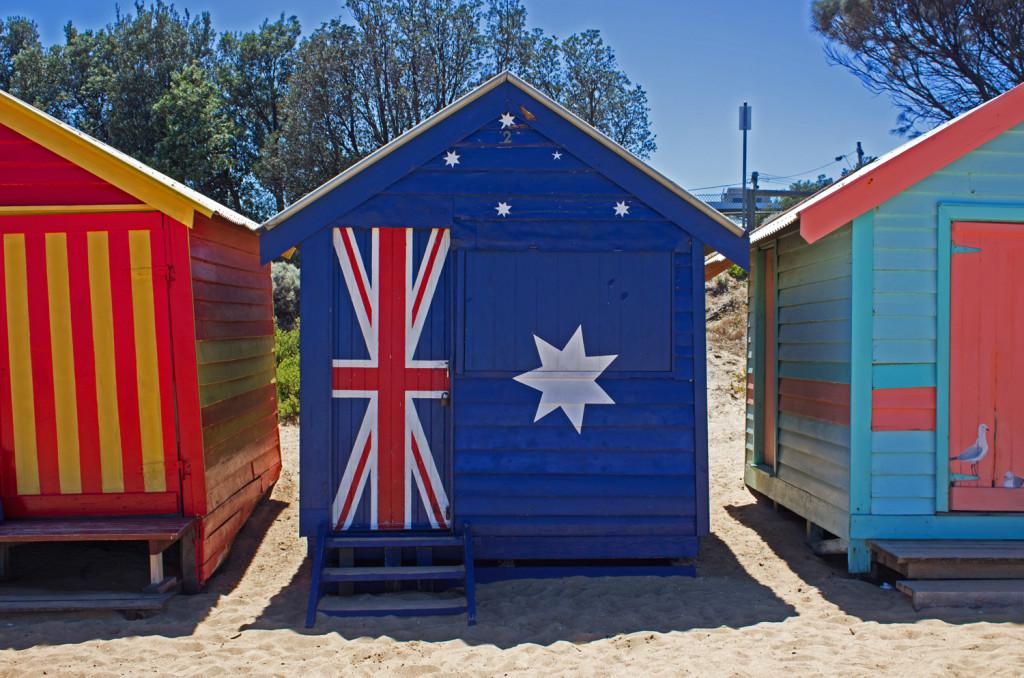 Australia Flag Brighton Bathing Box