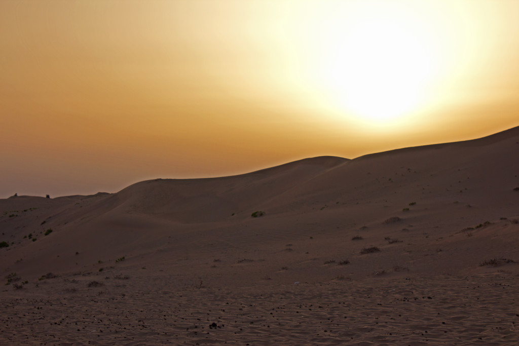 Sunset in the UAE desert