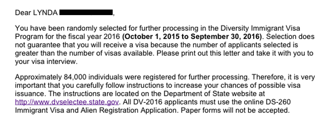 Omg I Won The Green Card Lottery