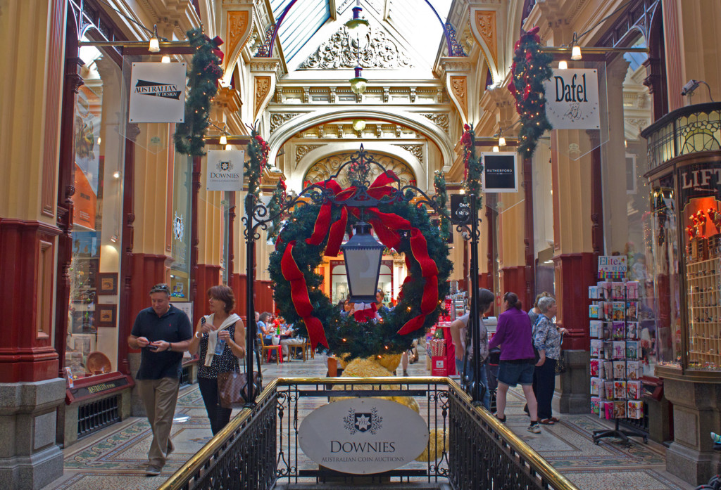 Block Arcade, Melbourne at Christmas