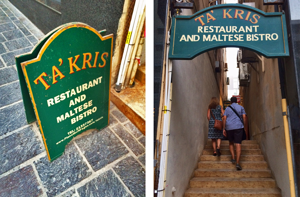 Where to eat in Malta - Ta Kris